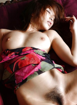 Amateur asian babe Yua Aida taking off her dress and panties