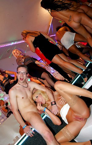 Cock crazy babes with fuckable bodies going wild at the drunk sex party