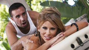 Foxy MILF with tiny tits Brooklyn Lee gets massaged and fucked hardcore