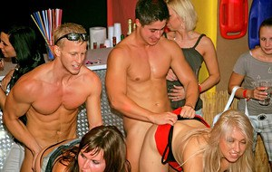 Raunchy amateurs are into wild interracial groupsex at the hardcore party