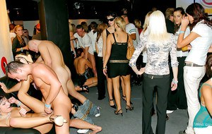 Slutty european gals going wild and nasty at the night club party