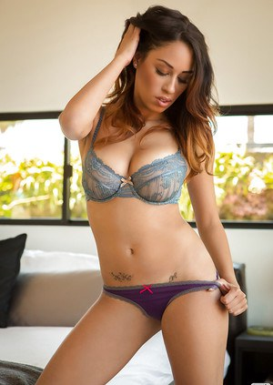 Megan A Elizabeth showcasing her gorgeous body covered with lingerie