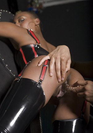 Kinky ebony vixen gets her pussy stuffed by a sex toy and a hard cock