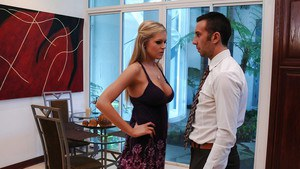 Cuddly cutie with big bosoms Darcy Tyler gives a deepthroat and gets banged