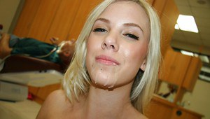 Busty blonde amateur Britney Beth gets fucked and facialized