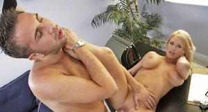 Busty hottie in glasses Madison James gets screwed at the job interview
