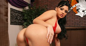 Steaming hot striptease dancer Aletta Ocean gets her ass pounded hard