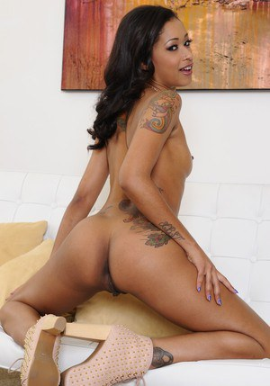 Petite ebony babe Skin Diamond stripping and fingering her gash