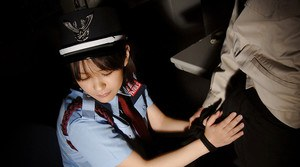 Submissive asian hottie in uniform gets forced into hardcore fucking