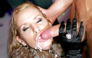 Dick-hungry cum-gazzlers getting satisfied at the wild sex party
