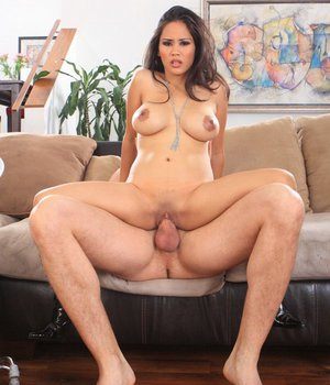 Busty asian lady Jessica Bangkok gets her shaved pussy drilled hard