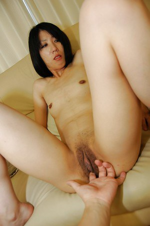 Naughty asian gal Makoto Aikawa gets her pussy fingered and shafted hardcore