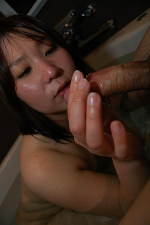 Dirty asian girl Kuniko Nozawa gets her hairy cunt shafted and creampied