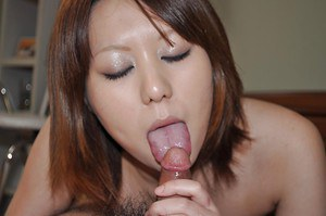 Asian cutie Aoi Fukasawa gets her shaggy pussy boned-up and creampied