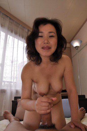 Asian MILF Junko Morikawa gives head and gets her hairy cunt boned-up