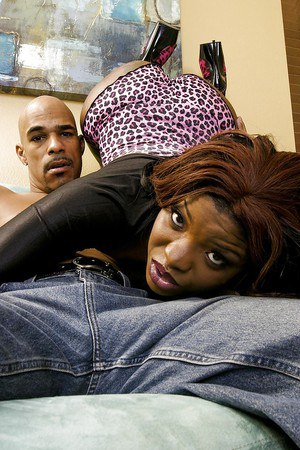 Brandi Coxxx gets mouth fucked and anal banged by a well-hung black lad
