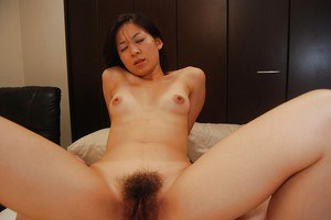 Horny asian MILF Ryoko Morikawa gets her hairy pussy vibed and cocked up