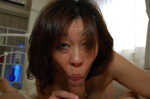Asian MILF Haruko Ogura strips down and gets fucked tough after shower