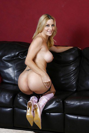 Topless MILF Celestia Star taking off her panties and spreading her legs