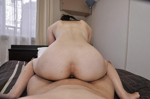 Svelte asian MILF Miki Sugimoto gets her hairy pussy vibed and cocked up