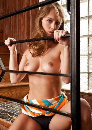 Foxy babe Laura Lynn taking off her undies and showcasing her graceful curves