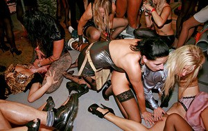 Lecherous MILFs taming their wild urges at the drunk groupsex party