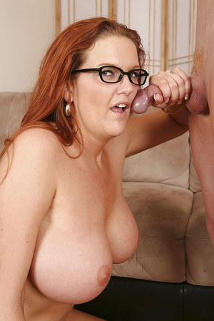 Busty milf with glasses
