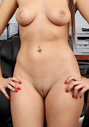 Smiley brunette latina amateur undressing and showcasing her sexy curves