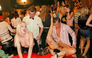 Jadish european MILFs satisfying their hunger for cocks at the drunk sex party