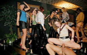 Lascivious lassies getting dirty and wild at the wet groupsex party