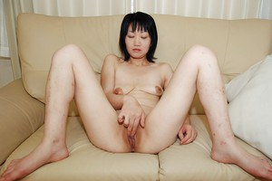 Slippy asian MILF has some pussy fingering and vibing fun with a naughty lad