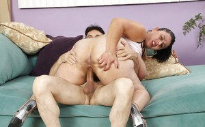 Filthy mature plumper gets shagged tough and jizzed over her hairy cooter