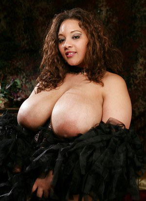 Ebony fatty babe with huge boobs masturbating her hairy cunt