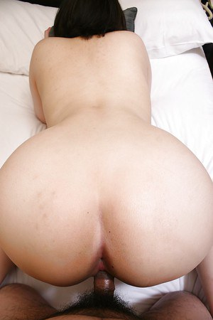 Fatty Asian MILF licking balls and fucking hardcore in her shaved cunt