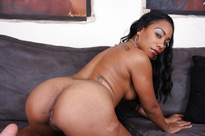 Perky ebony lassie with tattoos slowly uncovering her fuckable curves