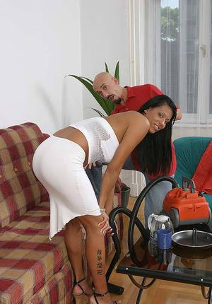 Sassy european mulatto with ample breasts gets shagged and glazed with jizz