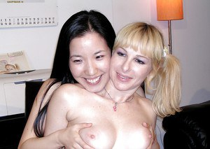 Lusty thai chick has a passionate lesbian sex with her european friend