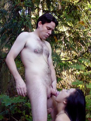 Thai slut shows off her ball licking skills and gets fucked outdoor