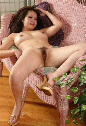 Adaptable Asian babe Gia wants us to look at her hairy pussy