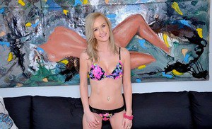 Amateur teen babe Skylar Green is a sultry masturbating diva