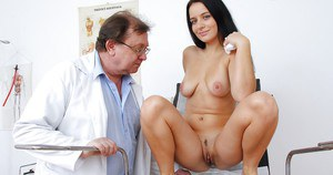 Cute chick with sexy body goes through full gyno examinations
