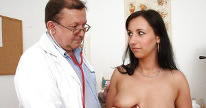 Gorgeous fetish actress Terra Sweet with big tits is reviewed by gyno