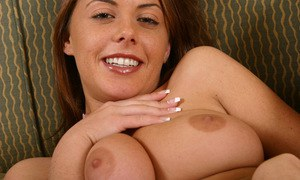 Stormy and delicious babe Penny Flame is masturbating passionately