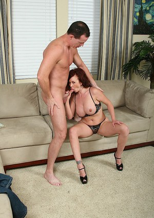 Sophisticated mature mom Felony gets semen on her big breasts