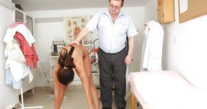 Energetic milf with splendid body Eliss Fire sees her private gyno