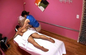 Fair and beautiful Asian girl Meiko is the best at massage and blowjob
