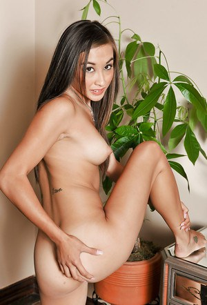 Happy Asian babe Arial Rose gets filmed in amateur solo clip