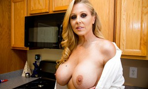 Wife with awesome bristols Julia Ann is a perfect target for a fuck