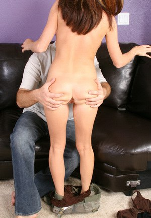 Hot milf with gorgeous bullets Ginger Rocs is checked by horny male
