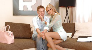 Sexy European girls Ivana Sugar and Alexis Brill pleasing one guy